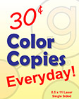 Geer Services Printing 25 Cent Color Copies Everyday