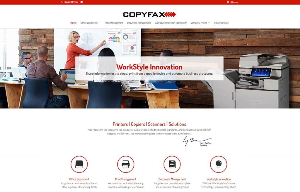 CopyFax Jacksonville Website Redesign