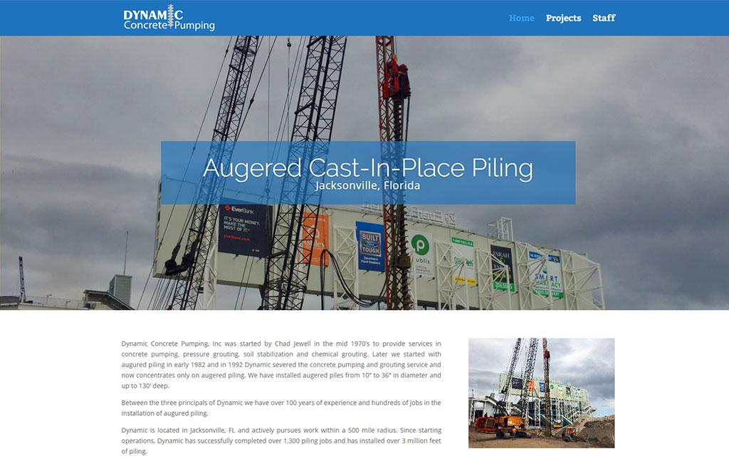 Dynamic Concrete Pumping Website Redesign