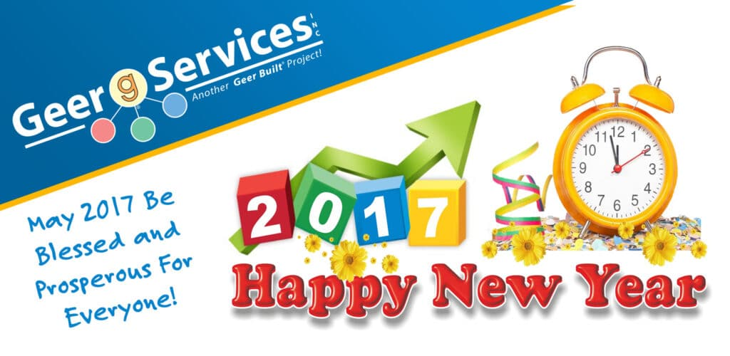 Happy New Year 2017 From Geer Services
