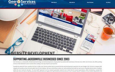 Geer Services Website Redesign