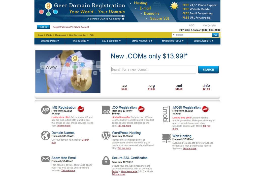 geer domains website